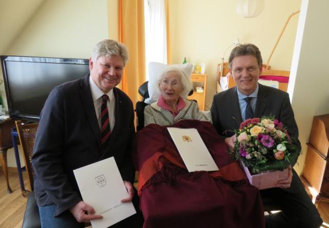 Lingenerin Gertrud Ratza feiert 103. Geburtstag Foto: Stadt Lingen