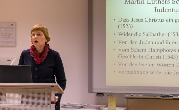 Gegen die Ideologisierung Luthers - Luthers Verhältnis zum Judentum Thema im LWH . Ursula Rudnick Foto: LWH
