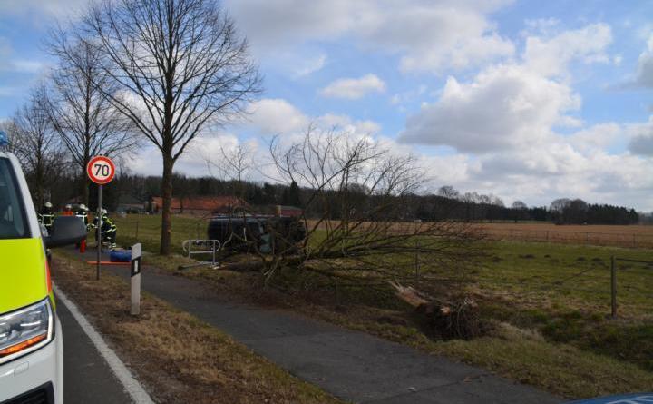 Aktuell: Verkehrsunfall auf der Dalumer Straße in Altenlingen Foto: NordNews.de