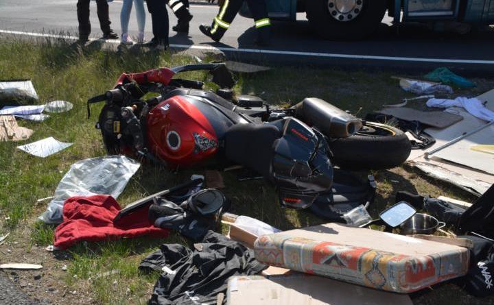 Lohne: Verkehrsunfall mit zwei PKWs auf der A31 Richtung Süden Foto: NordNews.de