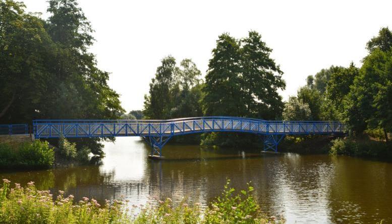 Blaue Brücke erstrahlt in neuem Glanz Foto: Stadt Nordhorn