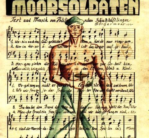 """Hymne für Widerstand und Freiheit - Gedenkstätte Esterwegen erinnert an 85 Jahre """"Lied der Moorsoldaten"""" - Liedblatt von Hanns Kralik (Düsseldorf), KZ Börgermoor 1933. Foto: Landkreis Emsland"""