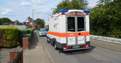 Biene / Holthausen: Fahrradunfall auf der Kroppstraße - Fahrradfahrer verletzt Foto: NordNews.de