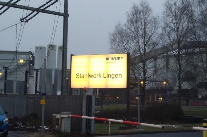 Einfahrt Stahlwerk Benteler