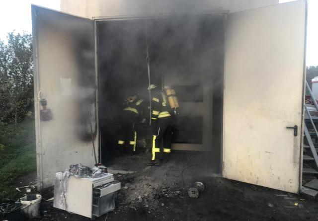 Schaltschrank einer Hackschnitzelanlage fing Feuer- Feuerwehr Kluse verhindert eine Ausbreitung der Flammen- Foto: SG Dörpen/ Feuerwehr