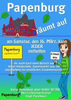 """Treffpunkte von """"Papenburg räumt auf"""" 2019"""