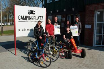 Ab sofort gibt es auf dem Campingplatz Papenburg auch Leihräder und Kettcars. Doch das ist nicht die einzige Neuerung zur neuen Campingsaison. Foto: Stadt Papenburg