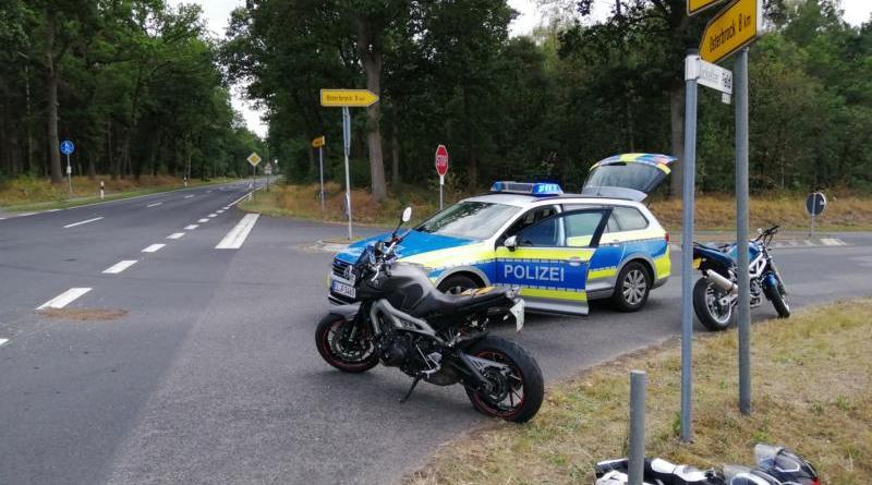 Haselünne - Zwei Motorradfahrer bei Unfall schwer verletzt - Foto: NordNews.de