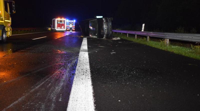 Schüttorf - Schwerer Unfall auf A31 am Schüttorfer Kreuz. Foto: Polizei