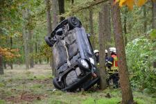 Ein Auto simulierte das abgestürzte Flugzeug - Foto: NordNews.de
