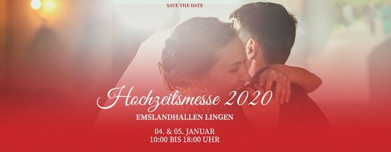 Save The Date - die Hochzeitsmesse 2020 in Lingen