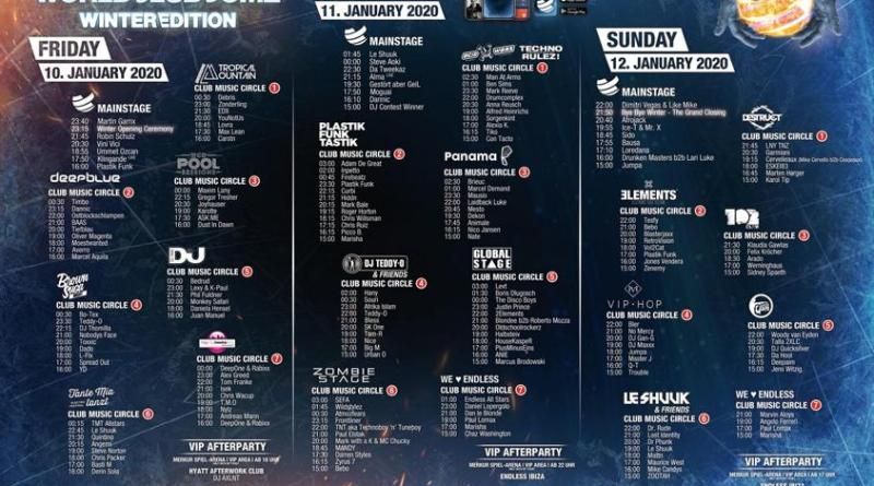 BigCityBeats WORLD CLUB DOME Winter Edition 2020 - der Countdown läuft – nur noch vier Tage bis zum größten Winter-Club der Welt