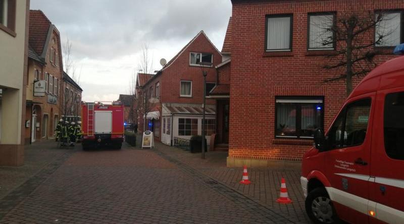 Lengerich - Zimmerbrand in der Kirchstraße - Foto: NordNews.de