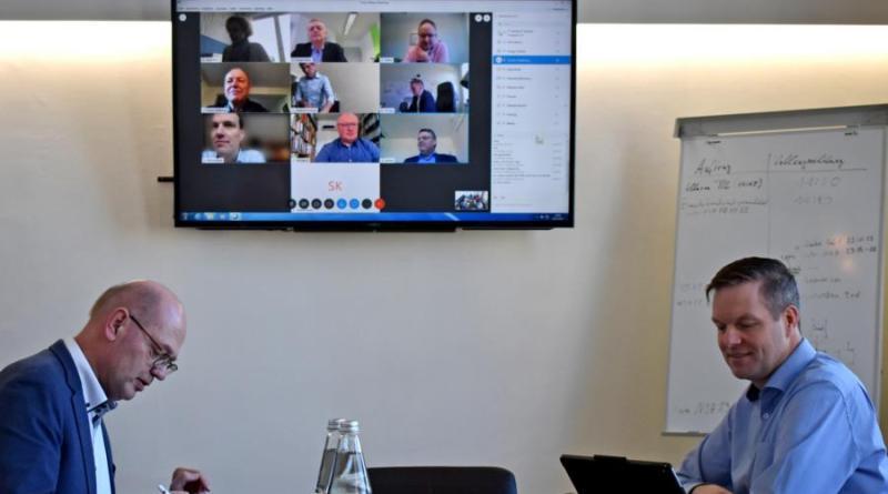 Landrat und Bürgermeister tagten in Videokonferenz - Foto: Stadt Nordhorn