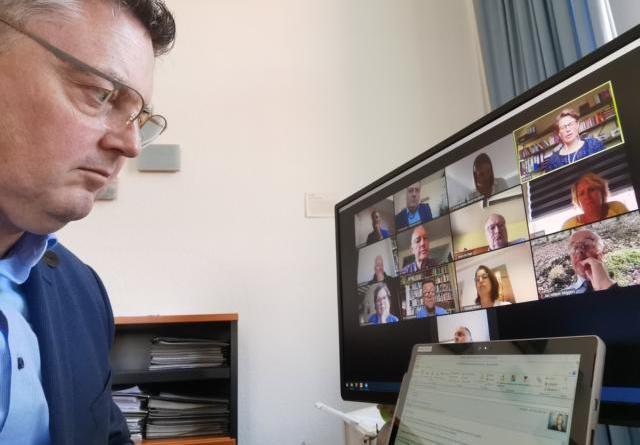 Grenzbürgermeister treffen sich per Video Foto: Stadt Nordhorn