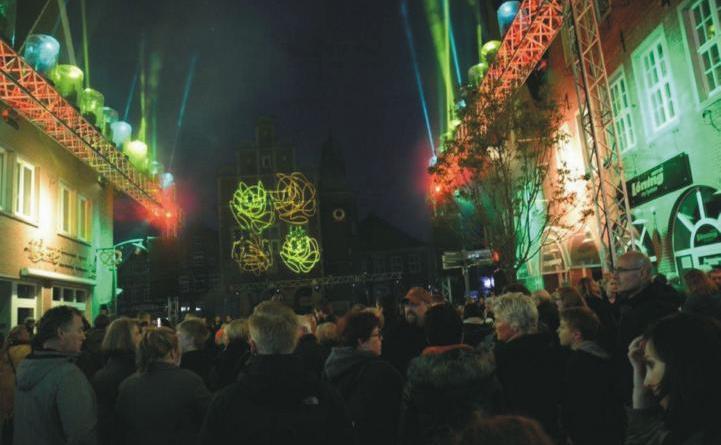 Für die Meppener Maitage am bevorstehenden Wochenende war auch – wie zuletzt in 2017 – eine Lasershow geplant. Foto: Stadt Meppen