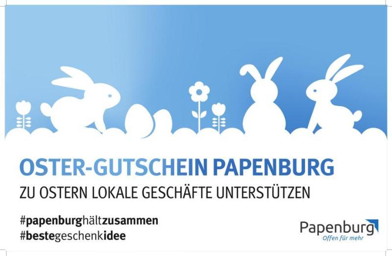 """Papenburg Gutschein: """"Oster-Gutschein"""" und Online-Bestellsystem als Hilfen für den Einzelhandel"""
