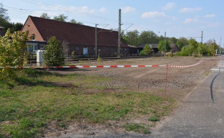Eine neue Grünfläche entsteht an der Bahnhofstraße in Osterbrock - Foto: Gemeinde Geeste