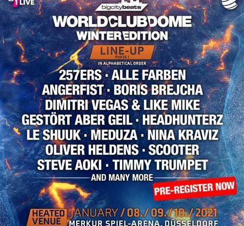 BigCityBeats WORLD CLUB DOME Winter Edition 2021 - 1. Groß-Event nach der Corona-Krise verkündet die ersten Acts
