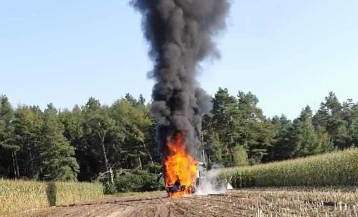 Maishäcksler brennt in Brandlecht - Die Feuerwehr informiert - Foto: Feuerwehr Nordhorn - Holger Schmalfuß - Foto der Facebookseite der Feuerwehr