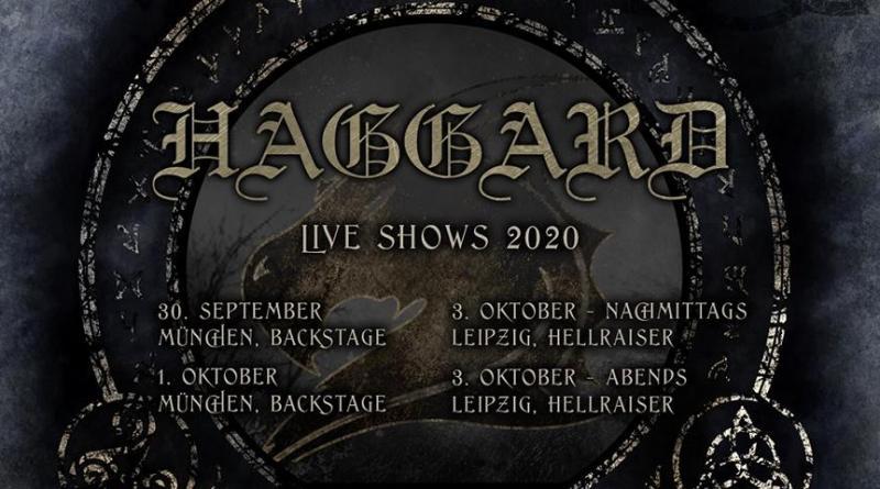 Haggard live Ende Sep./ Anfang Okt. in München und Leipzig - Musikgenuss mit Abstand