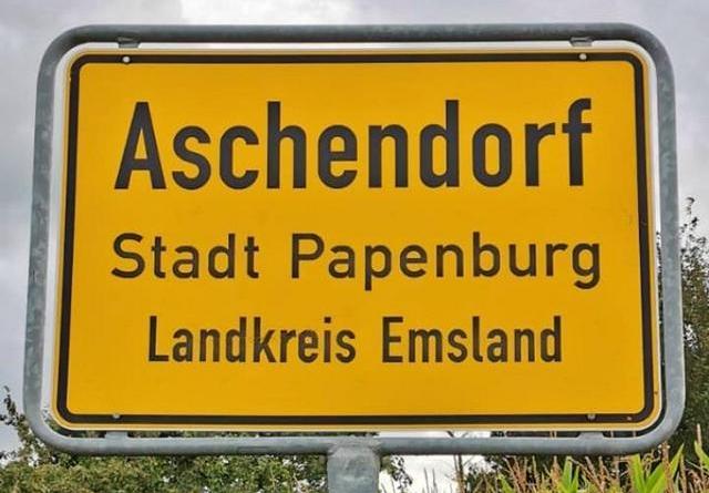 Ortsschild Aschendorf - Foto: NordNews.de