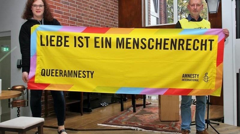 Demonstration für mehr LGBTI-Rechte in Europa