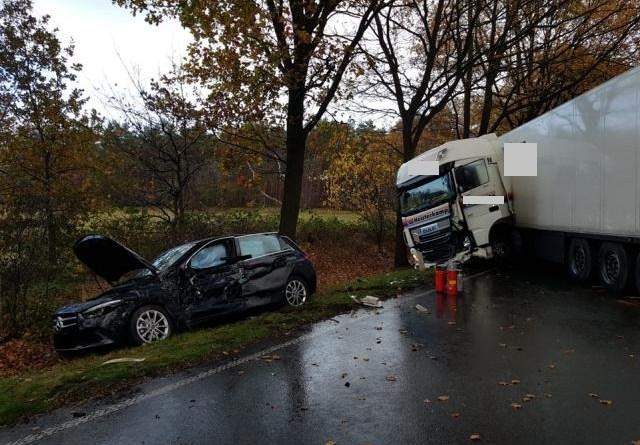 Lohne / Wietmarschen - Schwerer Unfall auf der B 213 - Vollsperrung - Foto: NordNews.de