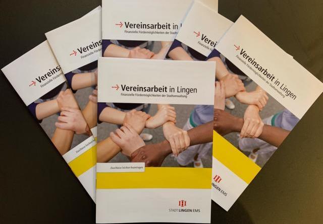 """Neuer Flyer: """"Vereinsarbeit: Finanzielle Fördermöglichkeiten"""" - Stadt Lingen bietet Unterstützung für Vereine - Foto / Flyer: Stadt Lingen"""