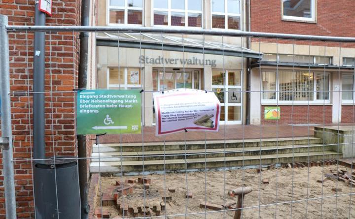 Baumaßnahmen in der Fußgängerzone Kirchstraße - Foto: Stadt Meppen
