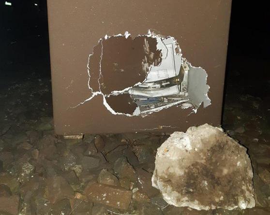 BadBentheim: Unbekannte legen Betonteile auf Gleise Gefährlicher Eingriff in den Bahnverkehr - Foto: Polizei