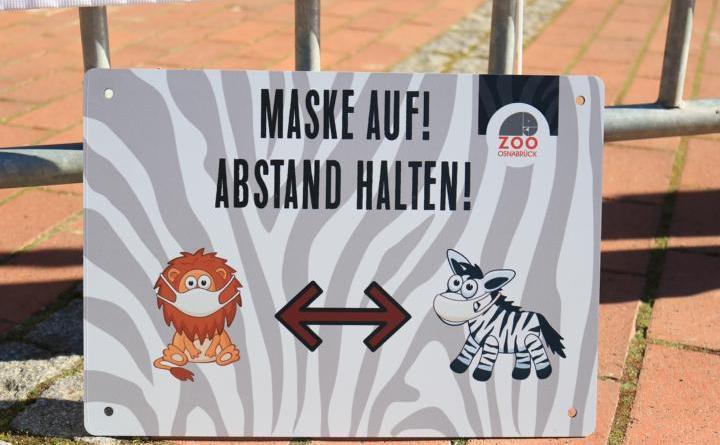Am kommenden Montag, 8. März darf der Zoo Osnabrück nach viermonatiger Schließung wieder Besucher empfangen. Auf dem Zoogelände und im Eingangsbereich gibt es eine Maskenpflicht. Besucher müssen sich vor ihrem Besuch auf der Homepage des Zoos anmelden. Foto: Zoo Osnabrück (Lisa Simon)