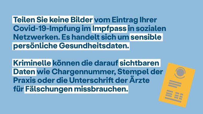 Impfpass nicht im Internet posten! - Foto: Bundesgesundheitsministerium