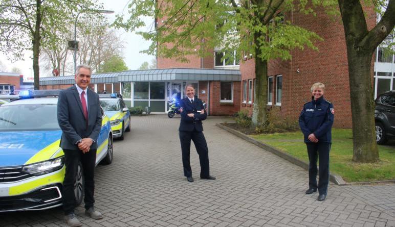 v.l.: Thomas Reinecke, Dr. Hannah Timmer, Nicola Simon. Foto: Polizei