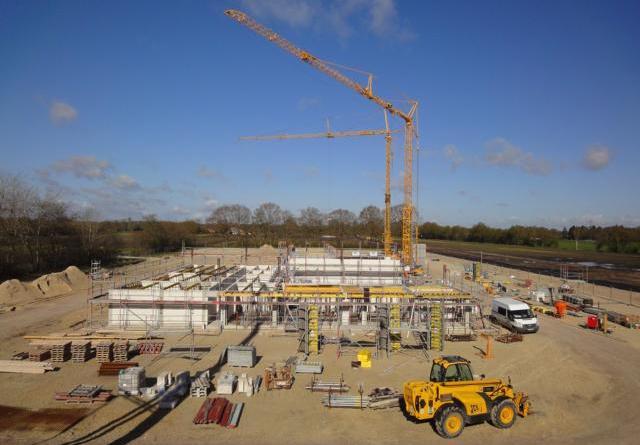 So sieht es derzeit auf der Baustelle des neuen Bauhofes im Gewebegebet Schulze-Delitzsch-Straße aus. Bild: Stadt Papenburg