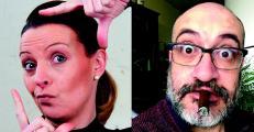 Nadine Boyer-Dijksterhuis und Peter Vette moderieren den Podcast. Foto: spielBühne Lingen