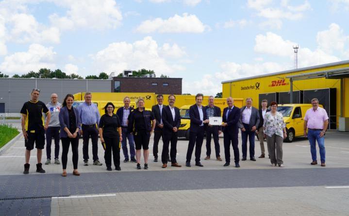 Neuer Zustellstützpunkt der Deutschen Post DHL im Gewerbegebiet Lingen-Nord - 70 Mitarbeiter – 30.000 Haushalte – 7,8 Millionen Briefsendungen