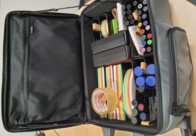 """Lingen - Eigentümer gesucht - Präsentationskoffer """"Workshop Trolley"""" - Foto: Polizei"""