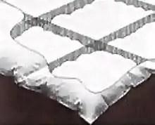 Piumino letto invernale - costruzione a cassettoni