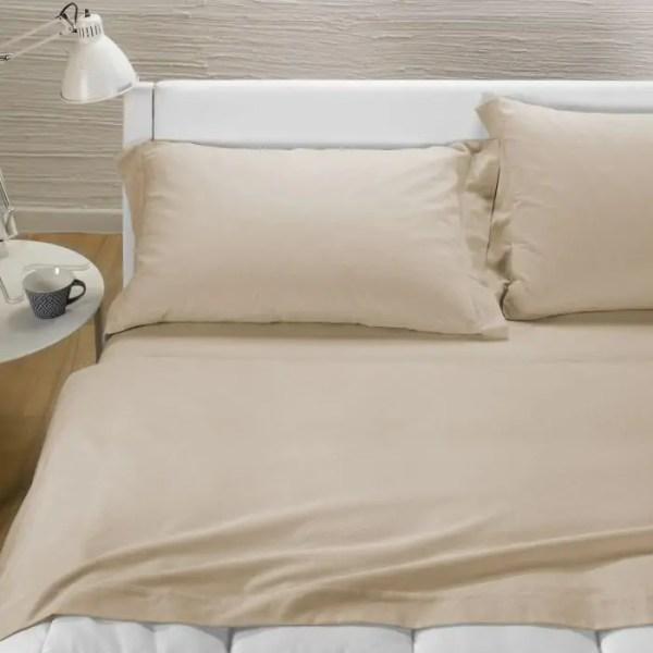 Completo lenzuola in flanella matrimoniale AVORIO-0