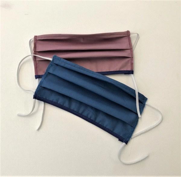 Mascherine in cotone per protezione anti corina virus - colori vari con laccetto elastico regolabile