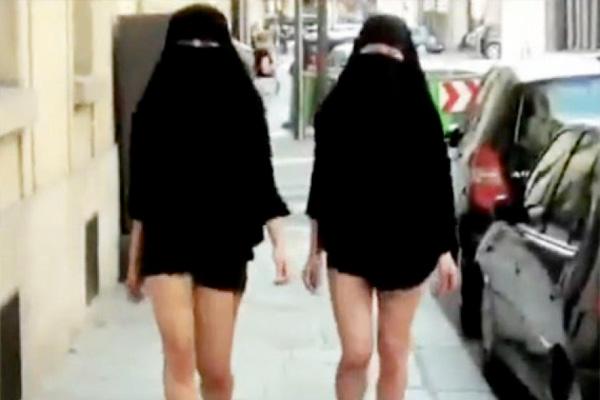 Les saoudiennes lancent la demi burka et se baladent cul nul