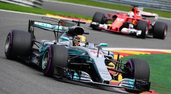 Hamilton vince a Spa, Vettel a rimorchio