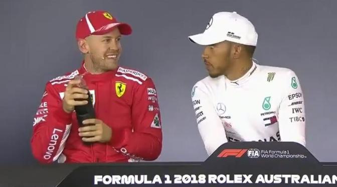 Vettel rivince a Melbourne. Hamilton non ride più.