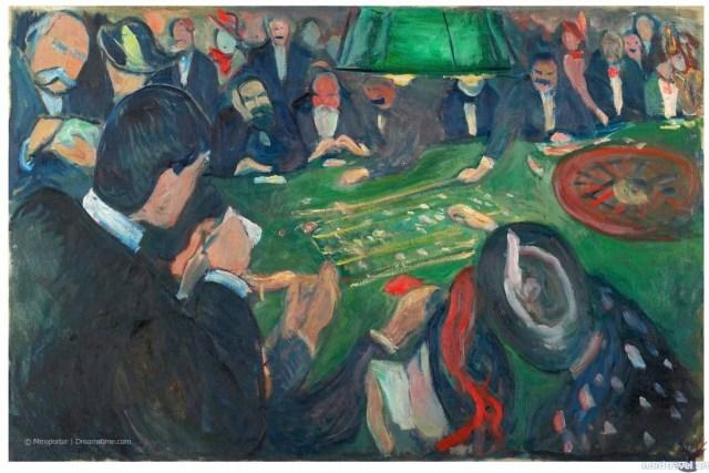 """""""За рулеткой в Монте-Карло"""" (1892). Э. Мунк . Музей Мунка в Осло"""