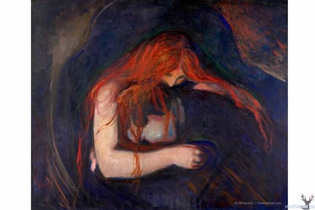 """Эдвард Мунк. """"Вампир""""(1895). Музей Мунка в Осло. Норвегия"""