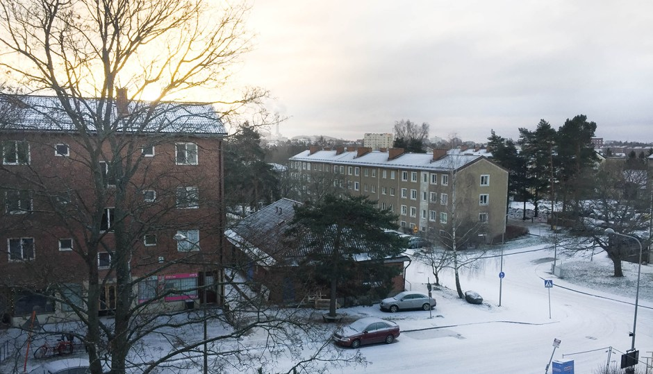 Snö i Stureby
