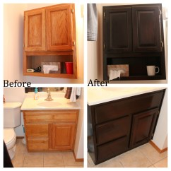 Staining Kitchen Cabinets Darker Widespread Faucet Oak Bathroom No Regrets Living