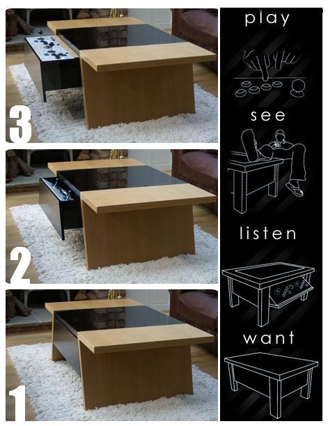 É um móvel muito versátil, além de ser jogável, ajuda na decoração da casa!
