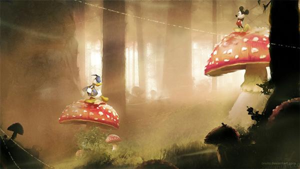 Mickey e Donald no Castle of Ilusion